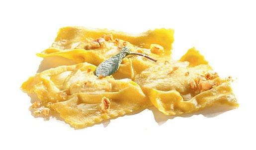 Polenta & Gorgonzola Tortelloni with Hazelnut Butter
